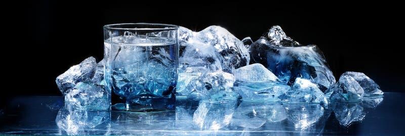 szkło lód fotografia stock