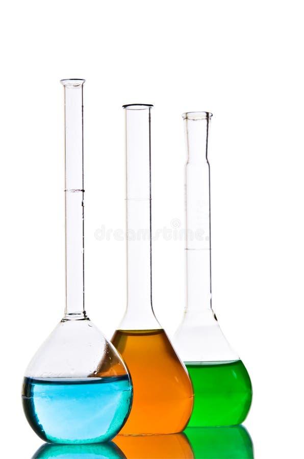 szkło laboratoryjne chemiczny fotografia royalty free