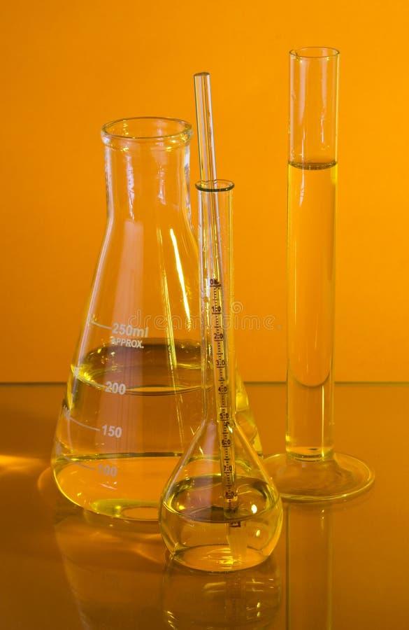 szkło laboratoryjne chemiczny obraz royalty free