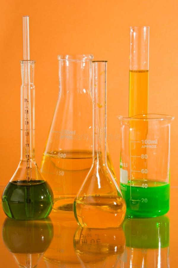 szkło laboratoryjne chemiczny obraz stock
