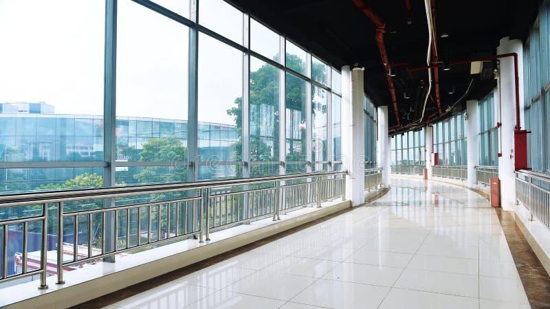 Szkło lobby nowożytny builing zdjęcia royalty free