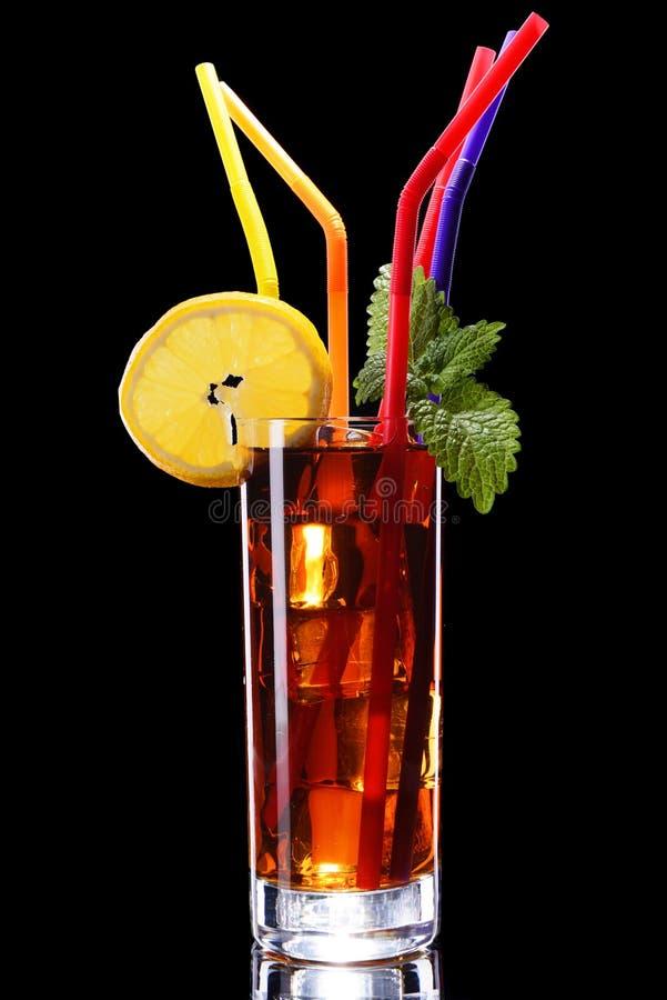 Szkło lodowa herbata zdjęcia stock