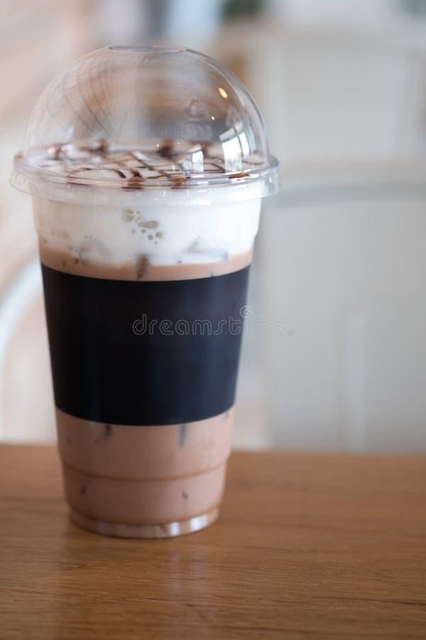 Szkło lukrowy kakaowy napój obraz stock