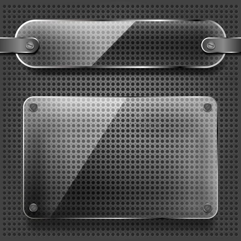 szkło matrycuje przezroczystość ilustracja wektor