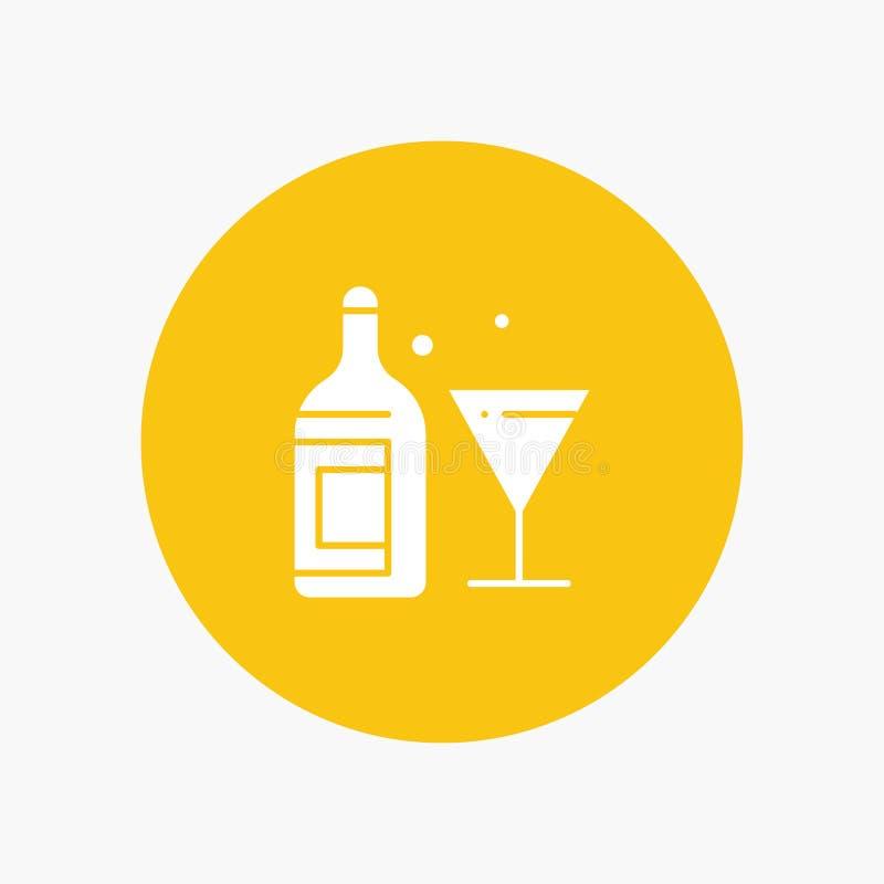 Szkło, napój, butelka, wino ilustracja wektor