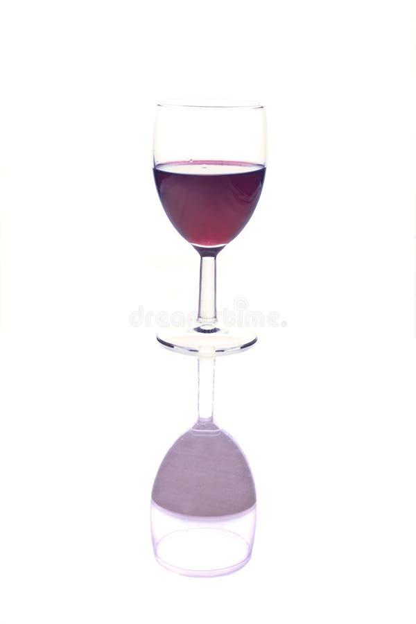 szkło odbijający wino zdjęcia stock