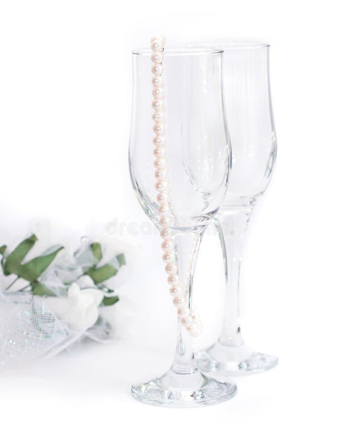 szkło perły dwa zdjęcia royalty free