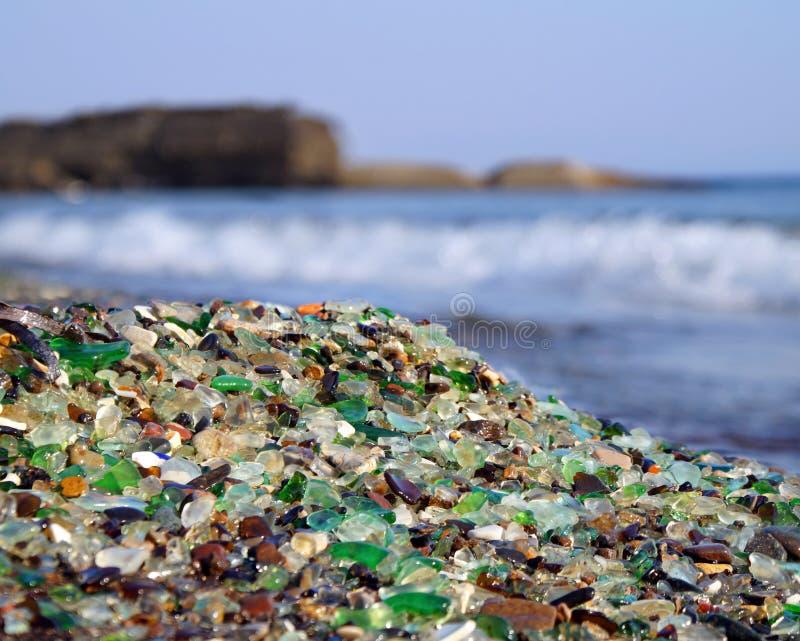 Szkło plaża fotografia stock