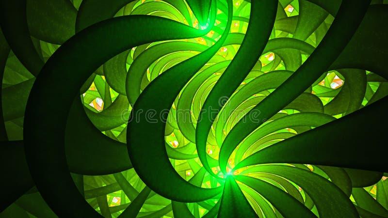 szkło plamiący Neonowy wzór ilustracji