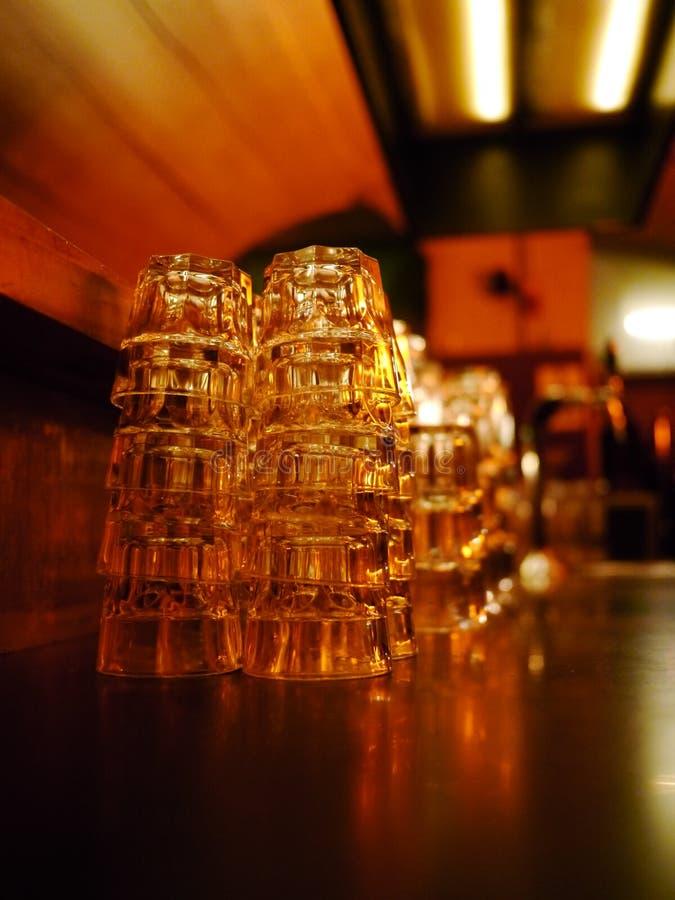 Szkło Pusty bar zdjęcia stock