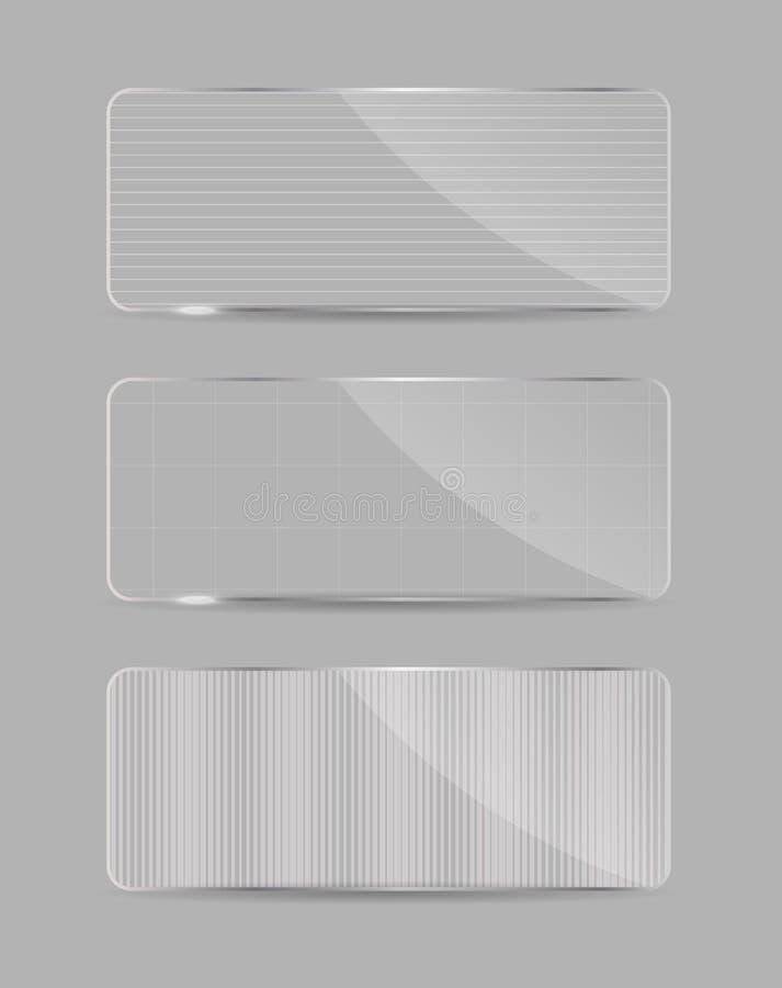 Szkło rama na abstrakcjonistycznym tle. Wektor ilustracji