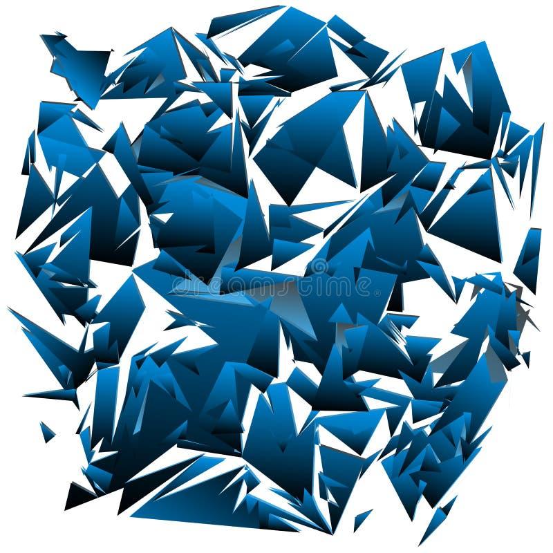 szkło rozbijał ilustracja wektor