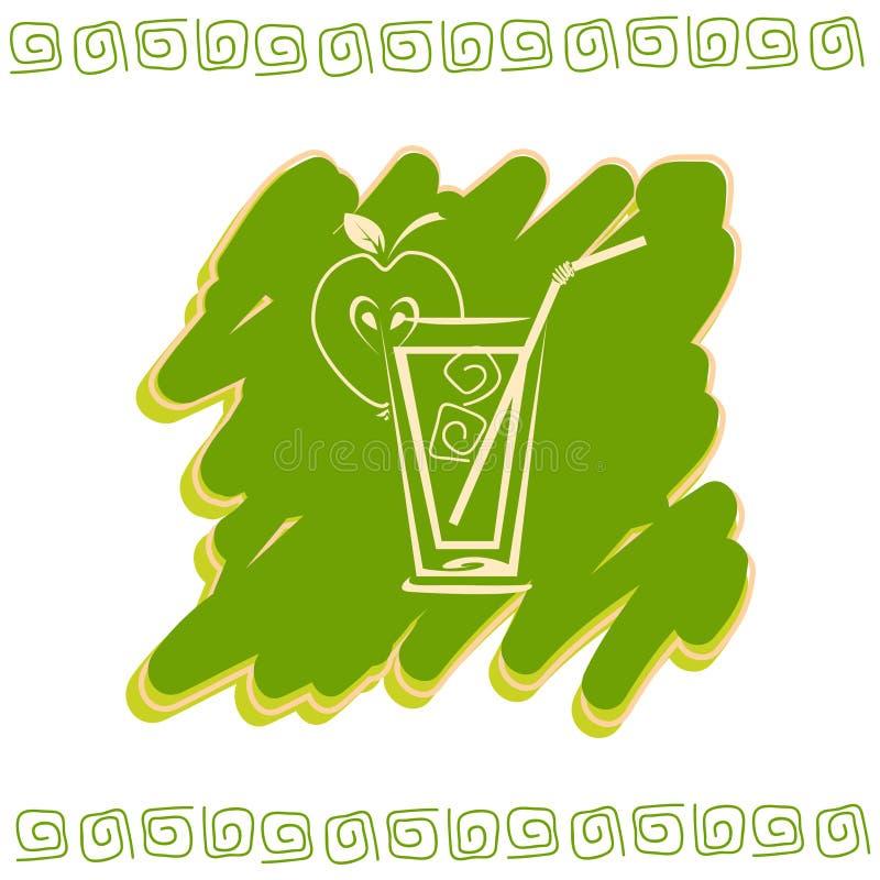 Szkło sok ikona ilustracja wektor