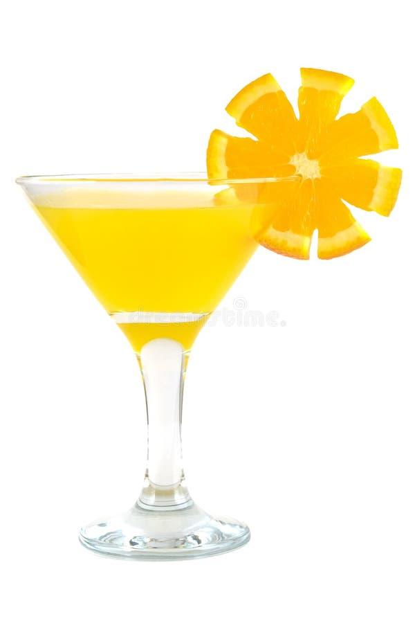 Szkło sok pomarańczowy. zdjęcie royalty free