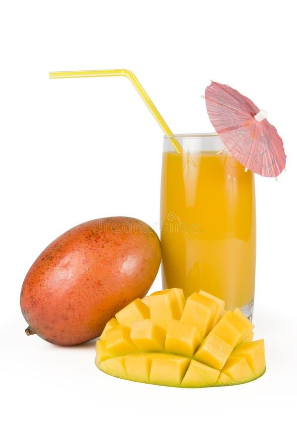 szkło soku świeże mango obraz stock