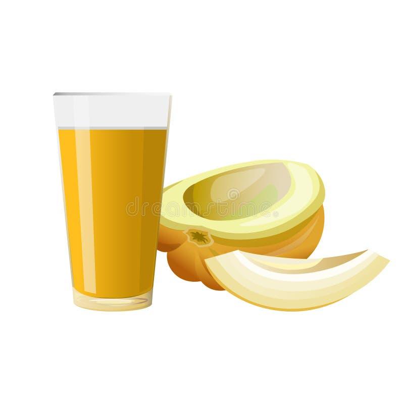 szkło soku melon ilustracji