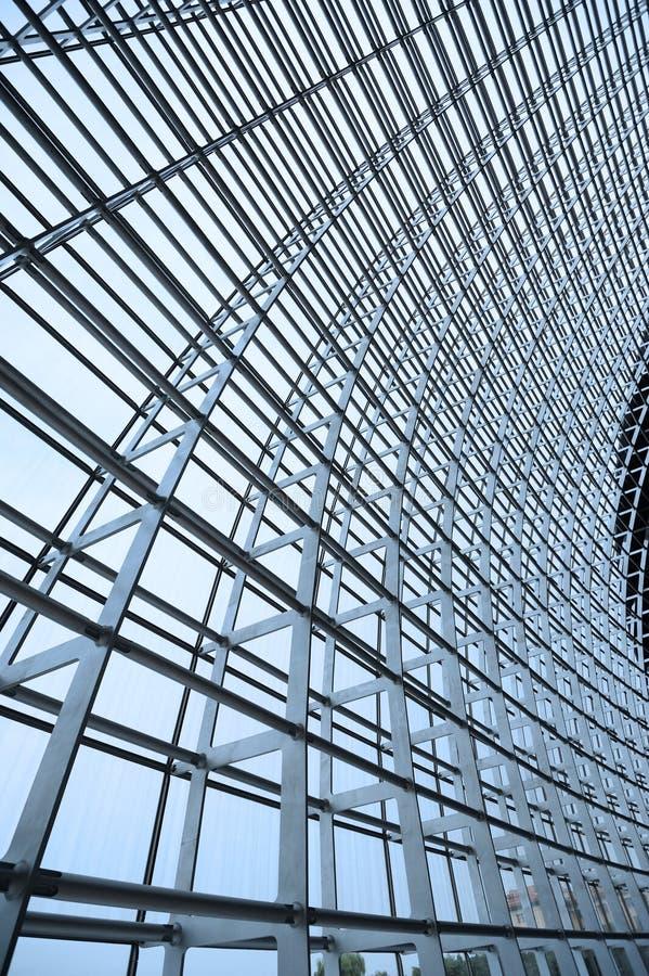 szkło struktura dachowa stalowa zdjęcia royalty free