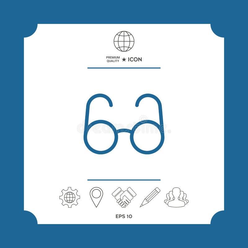 Szkło symbol - rewizi ikona ilustracji