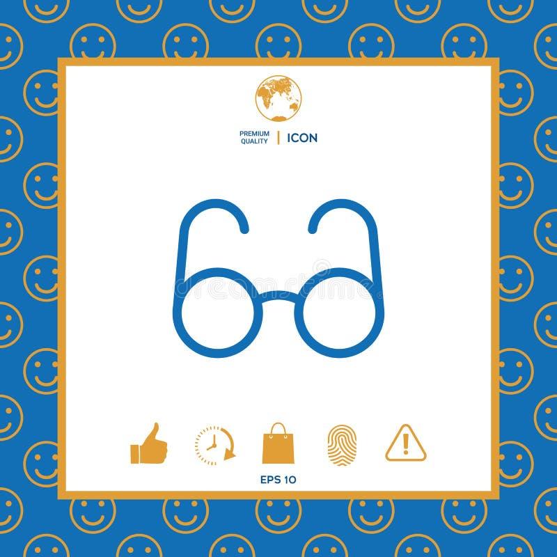 Szkło symbol - rewizi ikona royalty ilustracja