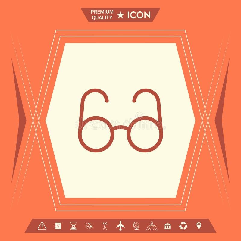 Szkło symbol - rewizi ikona ilustracja wektor