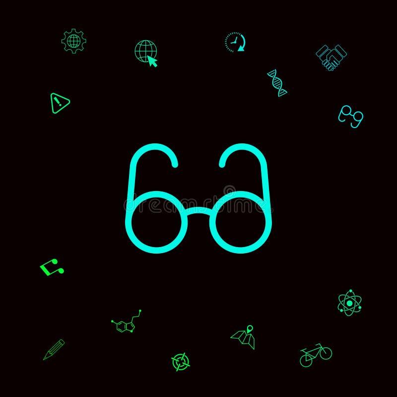 Szkło symbol - rewizi ikona Graficzni elementy dla twój designt royalty ilustracja