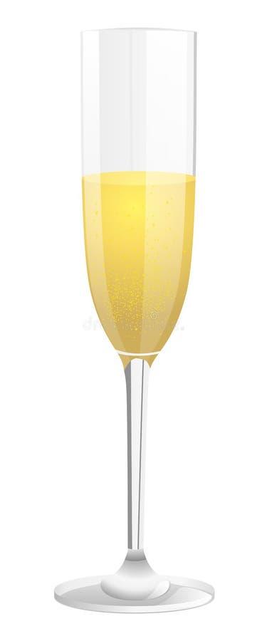 Szkło szampan ilustracja wektor