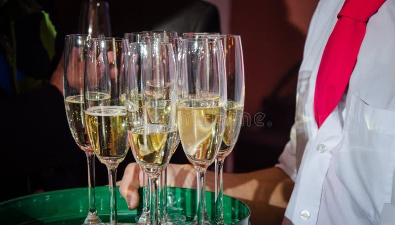 Szkło szampan przy świętowaniem fotografia royalty free
