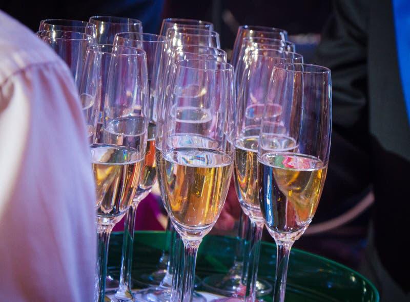 Szkło szampan przy świętowaniem obrazy royalty free
