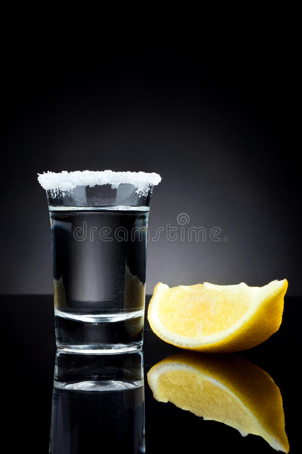 Szkło tequila strzał zdjęcie royalty free
