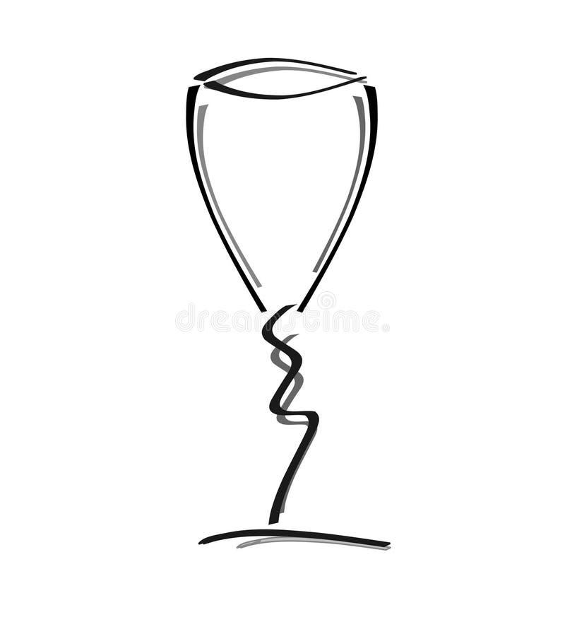szkło wina ilustracja wektor