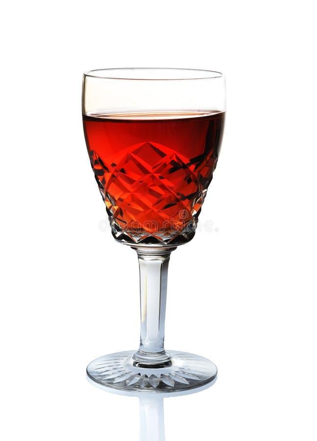 Szkło wino, szkło, czerwone wino, biały tło zdjęcie royalty free