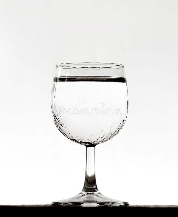 Szkło woda na białym tle fotografia royalty free