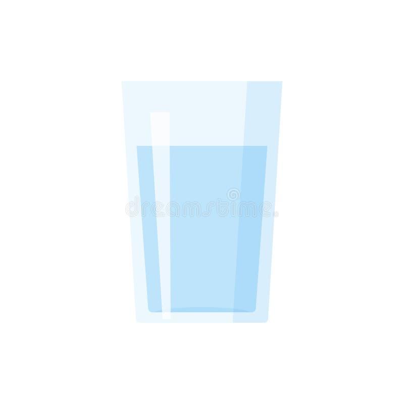 Szkło wodna płaska ikona ilustracja wektor
