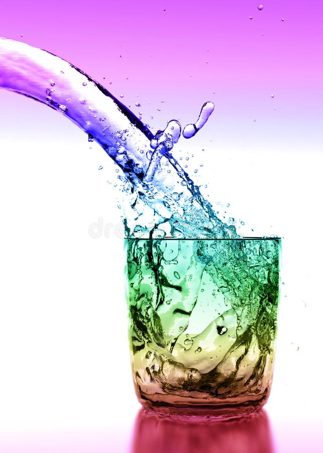 Szkło Wodny tęczy tło ilustracji