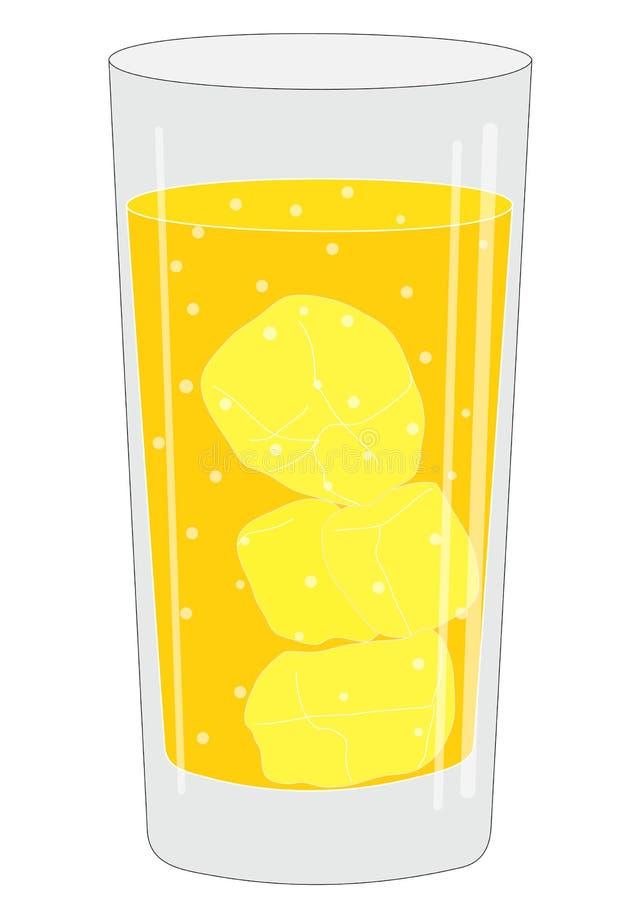 Szkło z napojem ilustracji