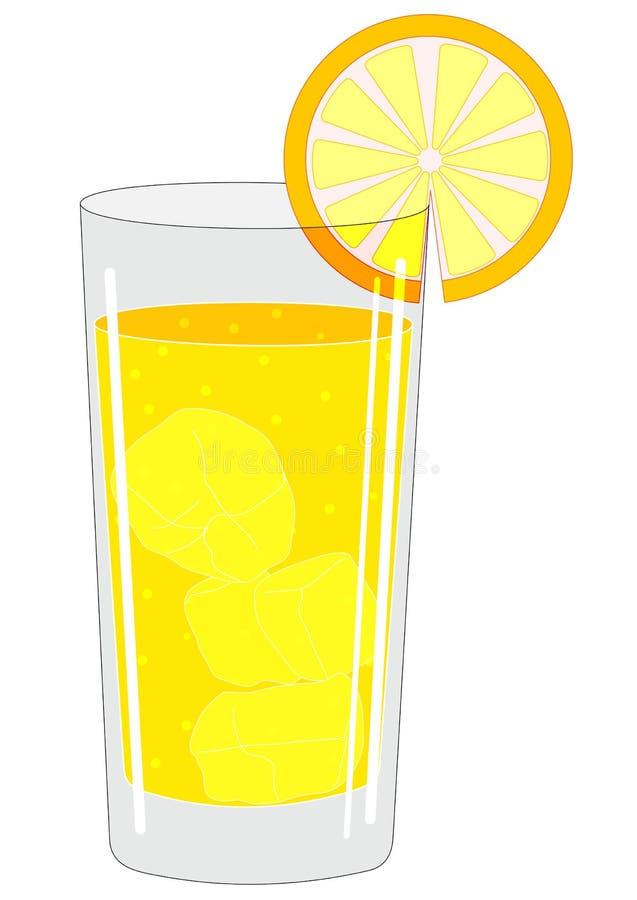 Szkło z napojem ilustracja wektor