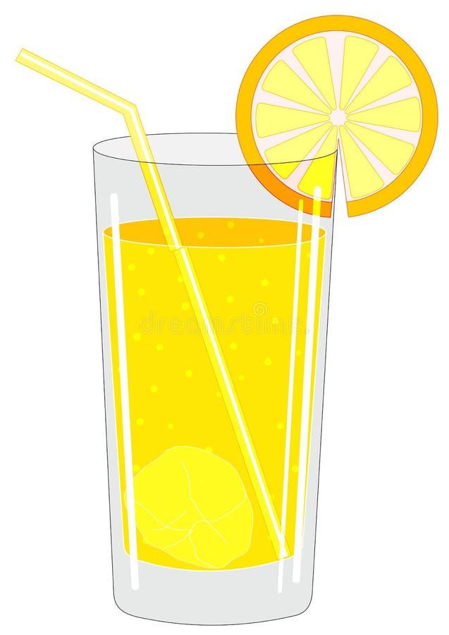 Szkło z napojem royalty ilustracja