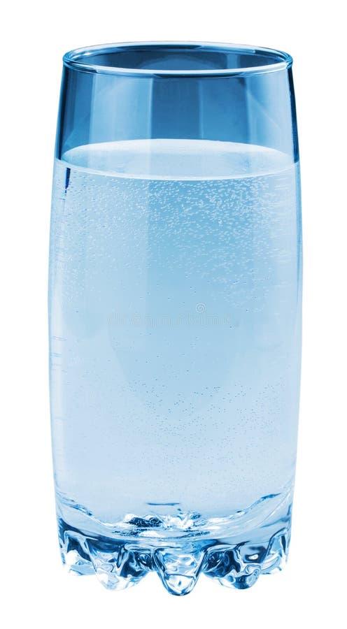 Szkło z wodą odizolowywającą na białym tle zdjęcie royalty free