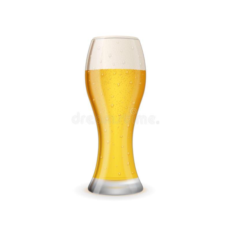 Szkło zimny i smakowity piwo royalty ilustracja