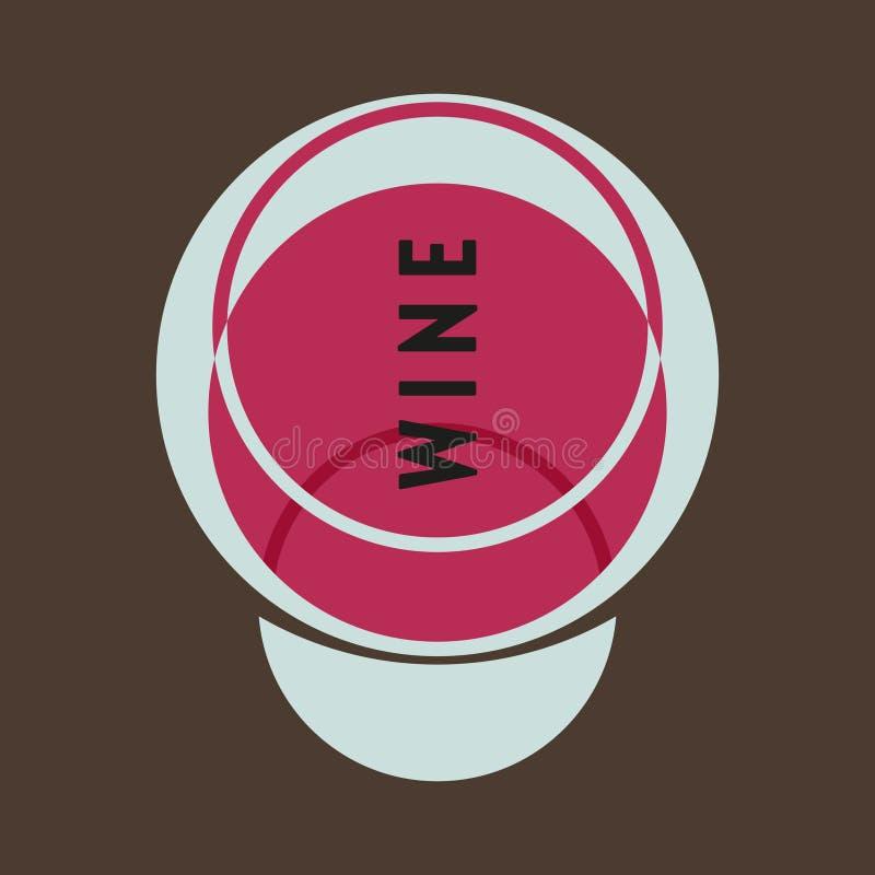 Szk?o alkohol czerwone wino szk?a Modernizm stylowa sztuka Geometryczna kszta?t sztuka ilustracja wektor