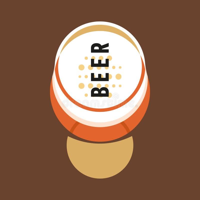 Szk?o alkohol Szkło piwo z piwem Modernizm stylowa sztuka Geometryczna kszta?t sztuka ilustracji