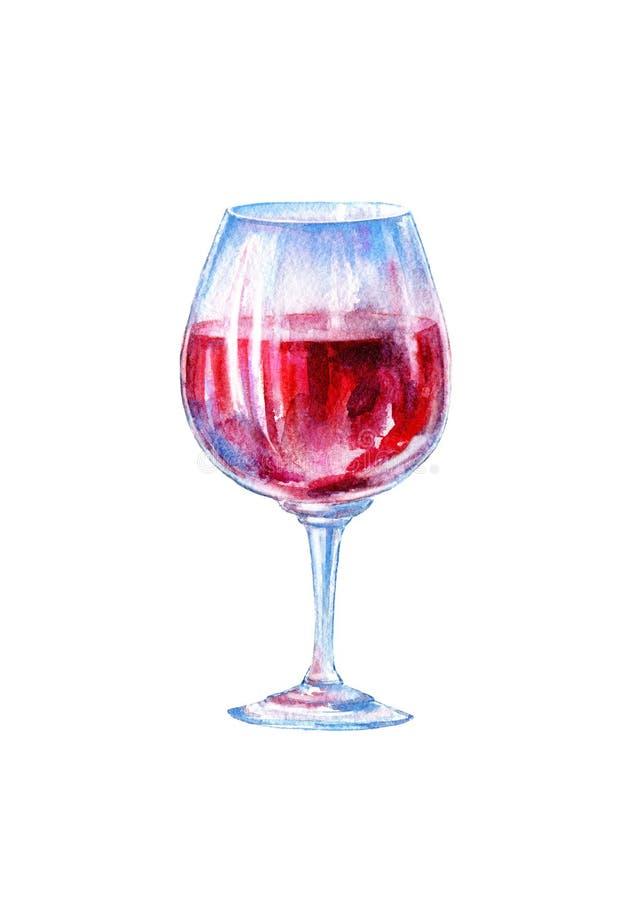 Szk?o czerwone wino Obrazek alkoholiczny nap?j ilustracja wektor