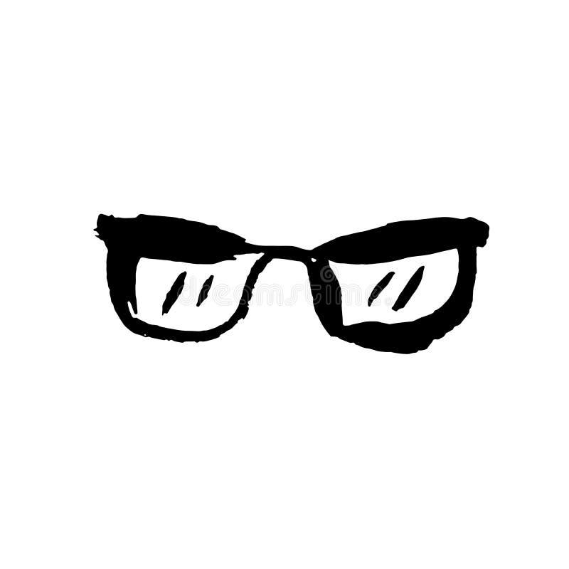 Szk?o ikona Grunge wektoru sucha szczotkarska ilustracja royalty ilustracja