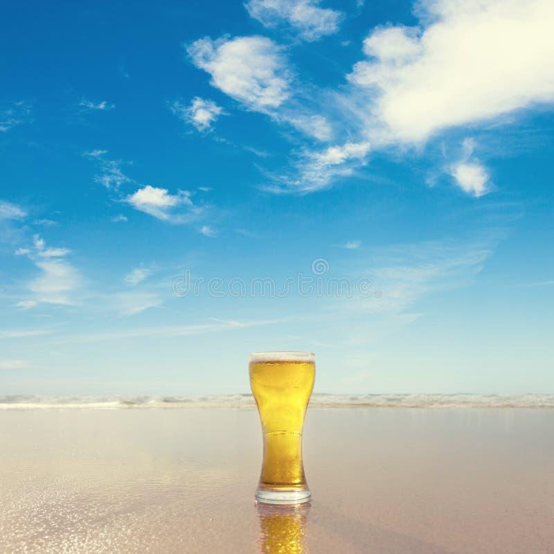 Szk?o piwo zdjęcie stock