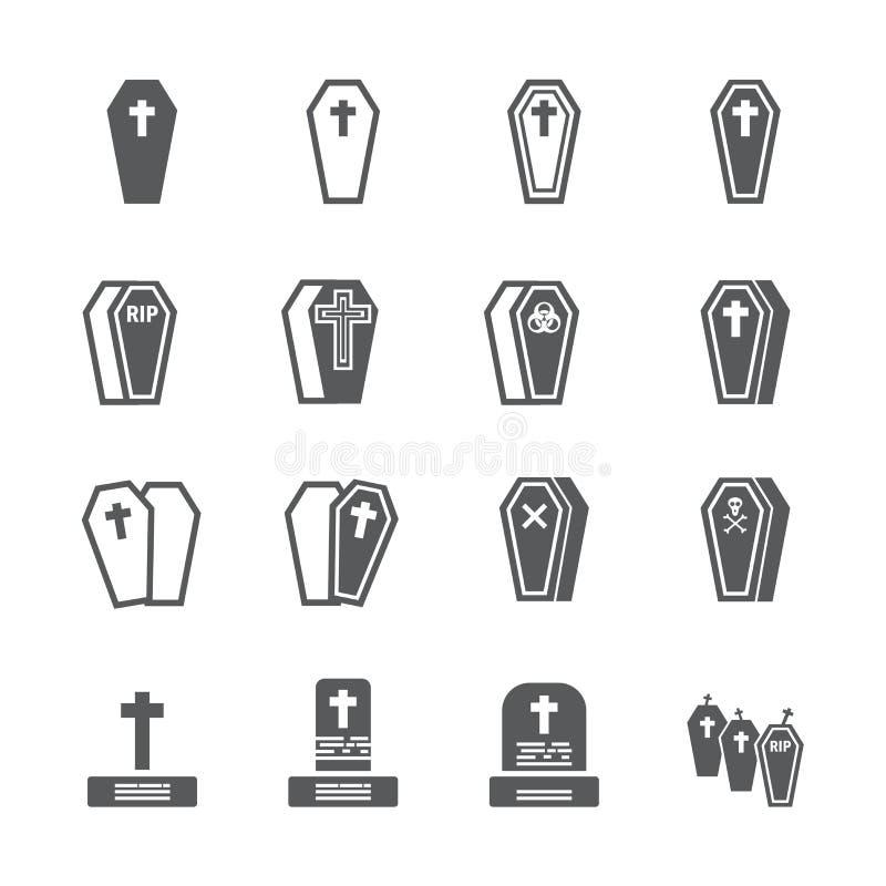 Szkatuły ikony set obrazy royalty free