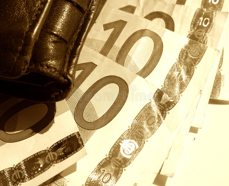 Szkice Euro Portfel. Fotografia Royalty Free