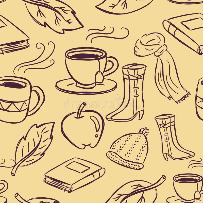 Jesieni tło ilustracja wektor