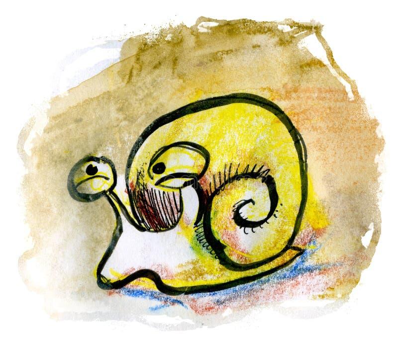 Szkicowy ślimaczek ilustracja wektor