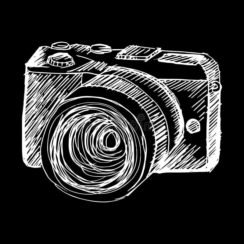Szkicowy Mirrorless kamera royalty ilustracja