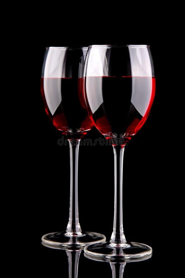 szkieł czerwieni dwa wino obrazy royalty free